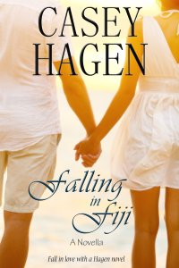 Casey's cover for her novella, Falling in Fiji