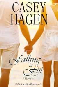 Casey's cover for her novella, Falling in Fiji