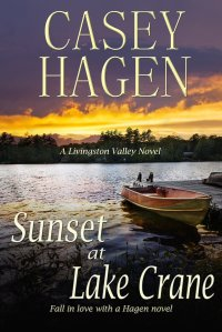 Casey's gorgeous cover for Sunset at Lake Crane